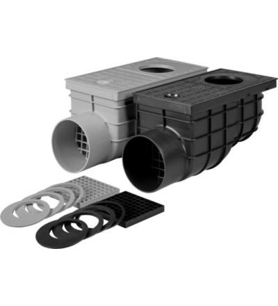 Vpusť kanalizační, plastová, průtok 375l / min., s  bočním vývodem  O 110 mm 500813