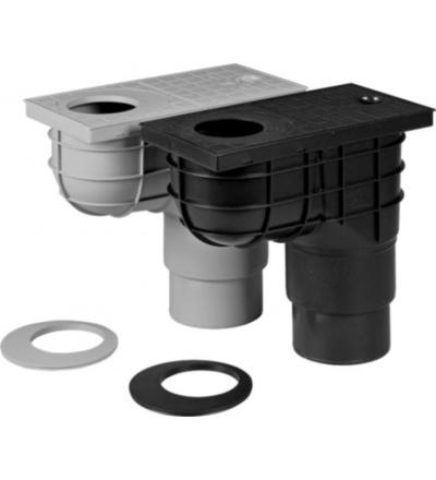 Vpusť kanalizační, plastová, průtok 390l / 530l / min., se spodním vývodem O 110 / 125 mm 500810
