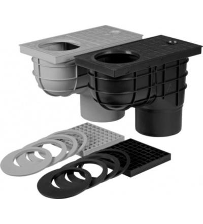 Vpusť kanalizační, plastová, průtok 530l / min., se spodním vývodem O 125 mm 500812