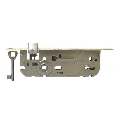 Zámek stavební, pozinkovaný, pravý, na klíč,  90 x 60 x 20 x 40 mm 603108
