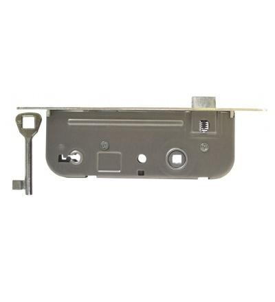 Zámek stavební, pozinkovaný, pravý, na klíč, 90 x 63 x 20 x 45 mm 603104