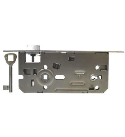 Zámek stavební, pozinkovaný, pravý, na klíč, 90 x 80 x 22 x 50 mm 603106