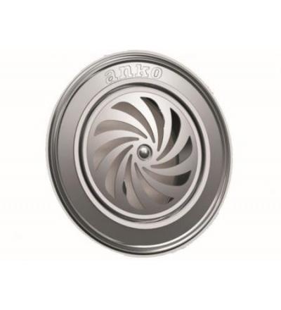 Zděř ventilační, pozinkovaná, bez aretace, tloušťka 11,8 mm, O 118 mm 500935